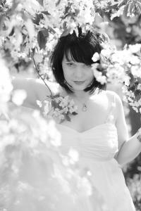 Kirschblüte mit Stephanie